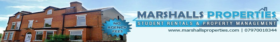 Student Properties and Houses to Rent in Manchester, Withington, Fallowfield, Burnage.