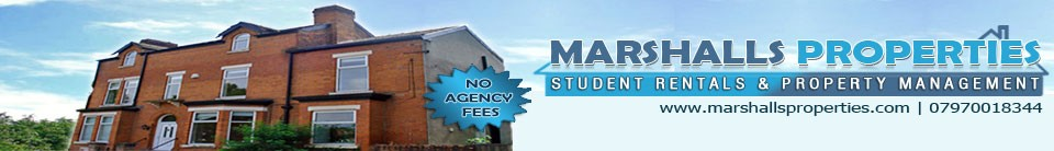 Student Properties and Houses to Rent in Manchester, Withington, Fallowfield, Burnage